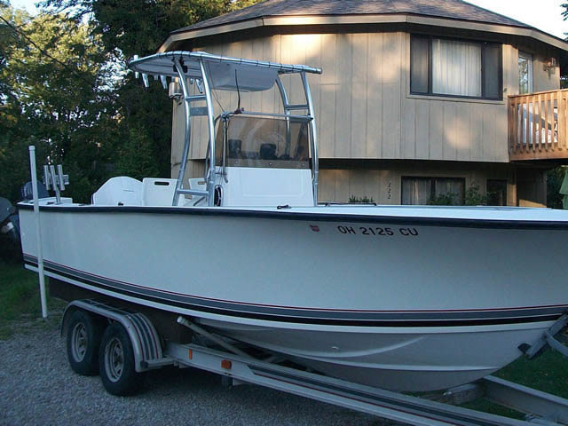 T-Top for 1989 Seacraft 23'3 center console boats 37570-2