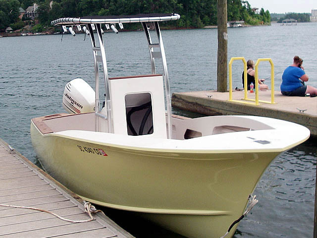 T-Top for Custom cold moulded 20' carolina style center console boats 37637-4