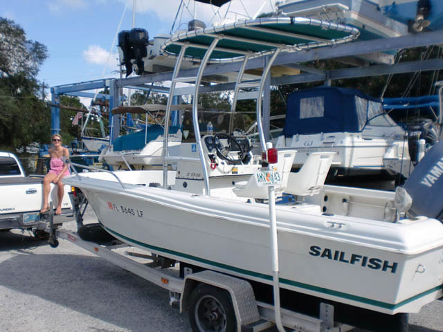 Sailfish boat t-tops