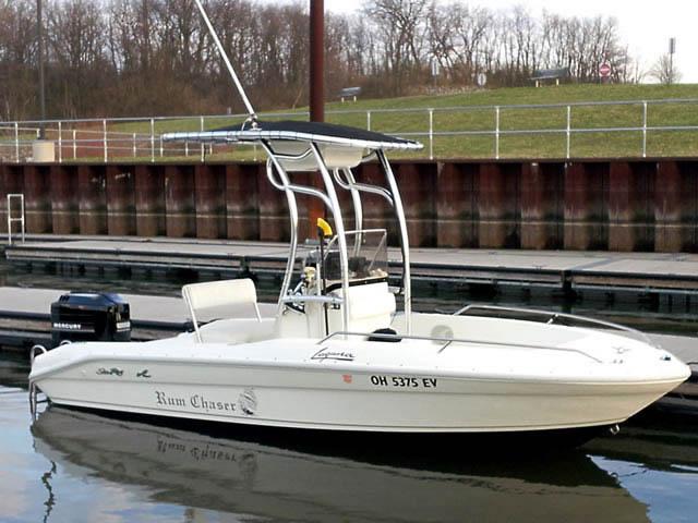 1992 Sea Ray 18 Laguna boat t-tops