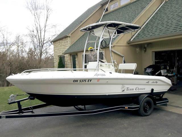 T-Top for 1992 Sea Ray 18 Laguna center console boats 39706-2