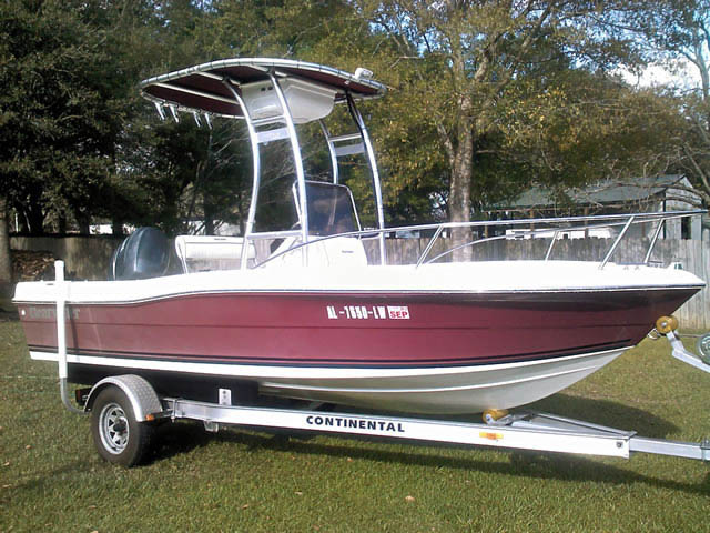19' Clearwater boat t-tops