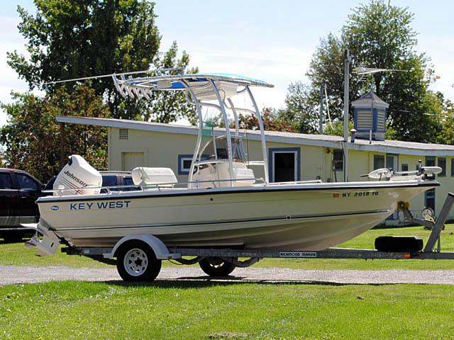 Key West boat t-tops