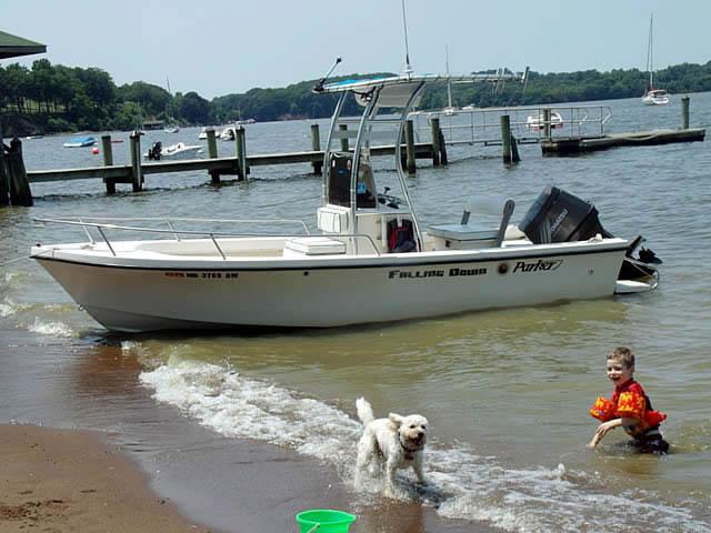 1988 Parker boat t-tops