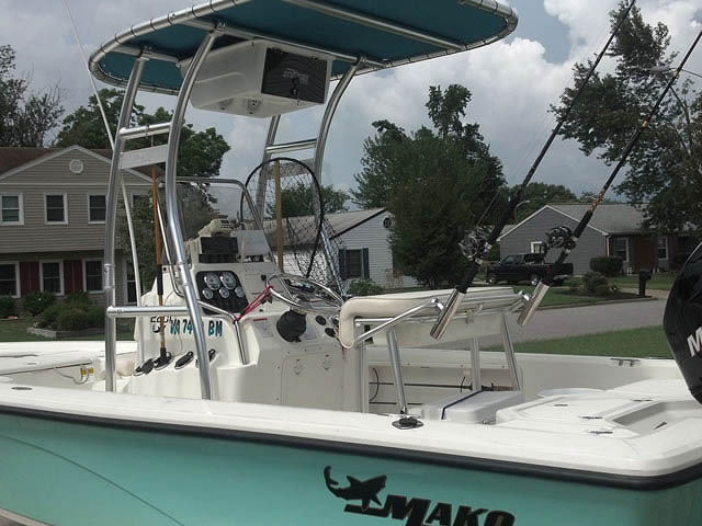 T-Top for 2009 Mako 2201 CC center console boats 46607-2