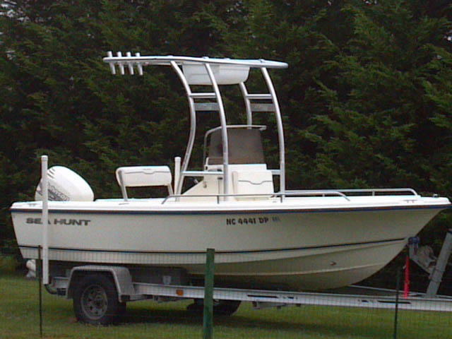 2001 sea hunt triton 172 boat t-tops