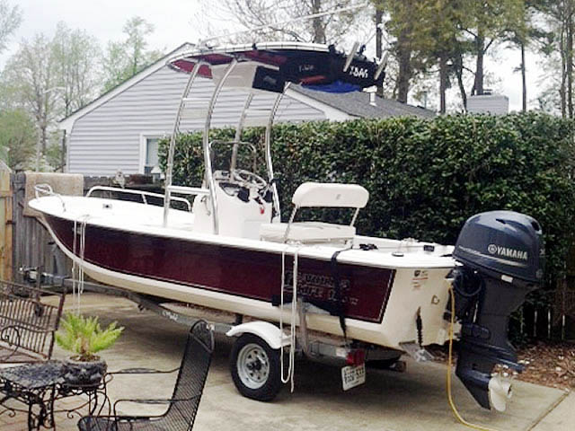 Carolina Skiff JVX18 boat t-tops