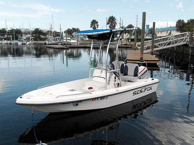 2001 Sea Fox 160 boat t-tops