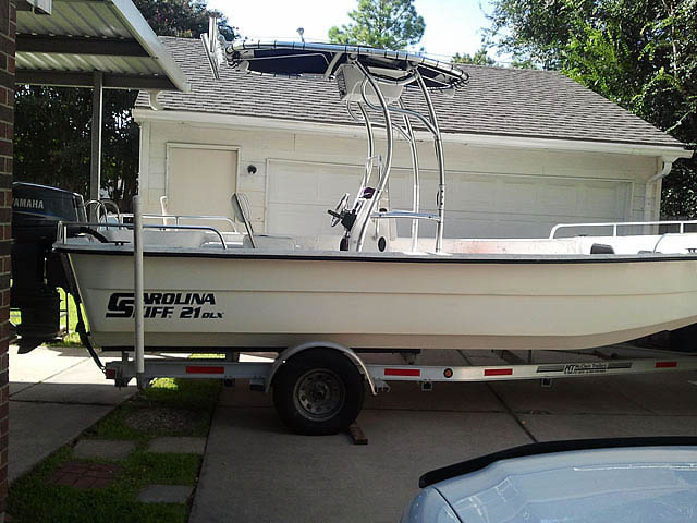 2003 Carolina Skiff, 21 DLX boat t-tops