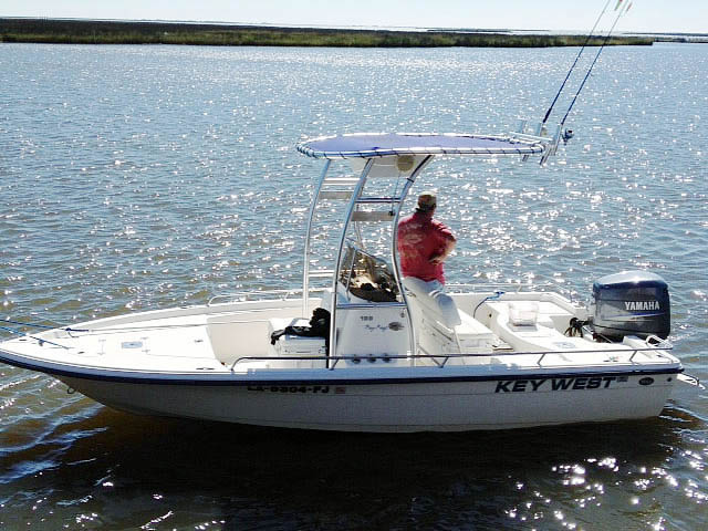 T-Top for 2007 Key West Bay Reef center console boats 76138-1