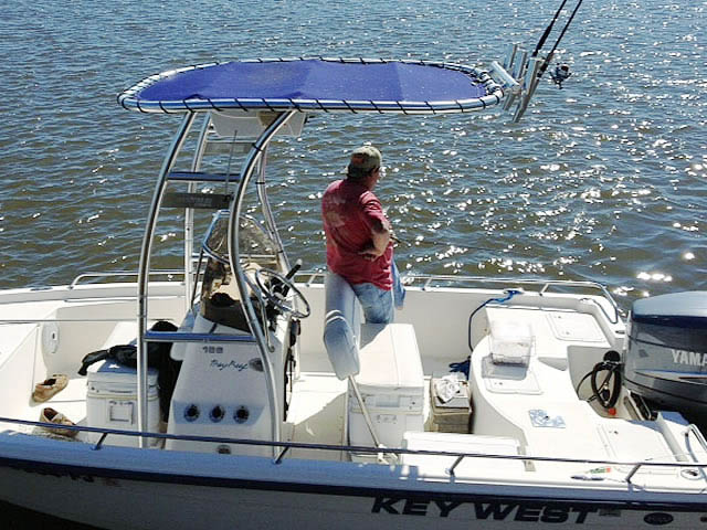 T-Top for 2007 Key West Bay Reef center console boats 76138-2