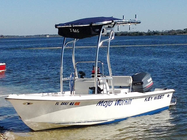 2000 Key West 1720 boat t-tops