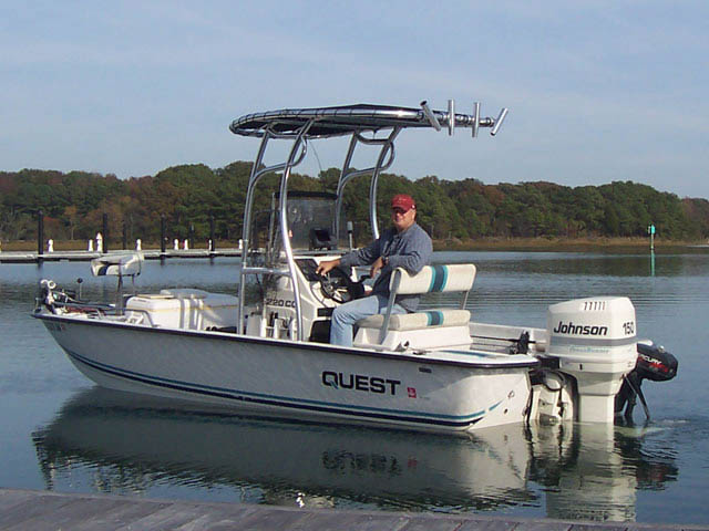 1995 Quest Bay Boath boat t-tops