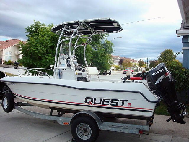 1991 FourWinns Quest 187  boat t-tops