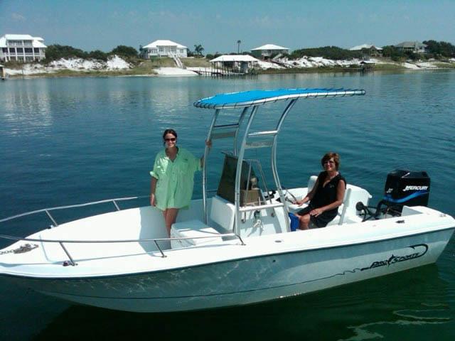 2000 21 foot ProSport boat t-tops