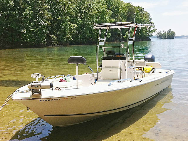 2007 Sea Hunt BX22T boat t-tops