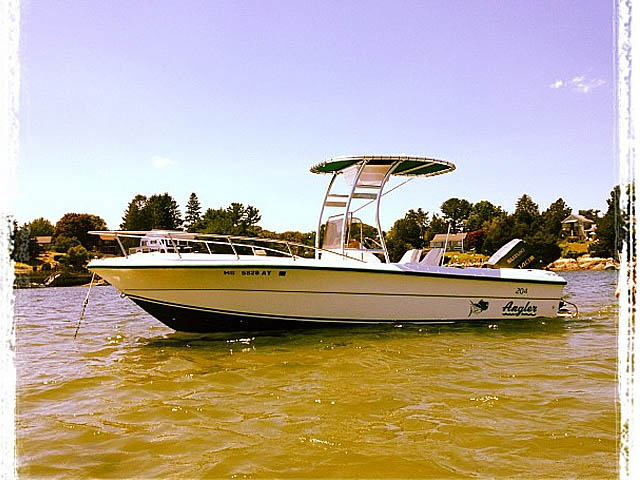 1997 Angler 20.4 center console  boat t-tops