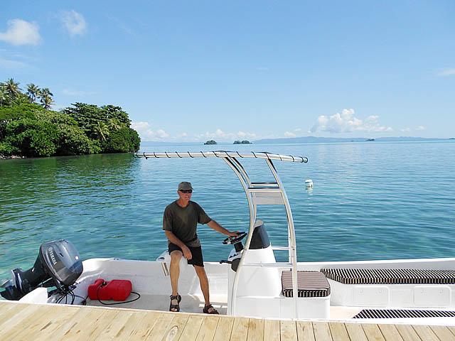 Pacific Fiberglass fishing boat t-top