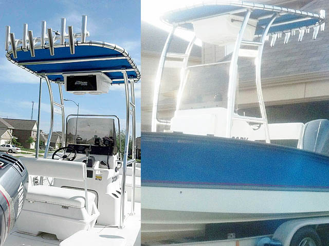 T-Top for 1998 Triton Bay Flight center console boats 98693-2