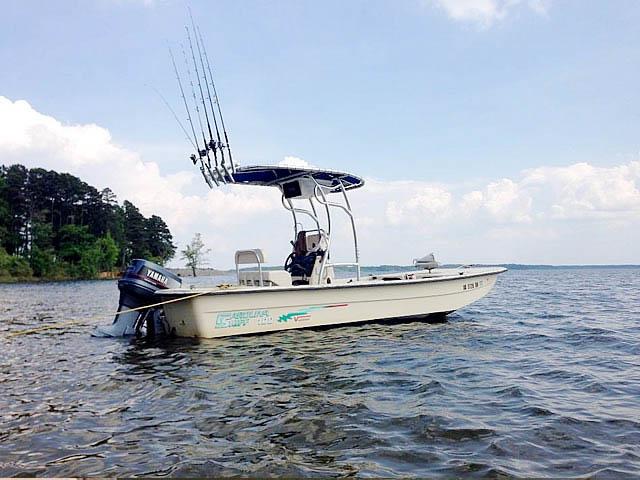 2001 Carolina Skiff 198 Semi-V  boat t-tops