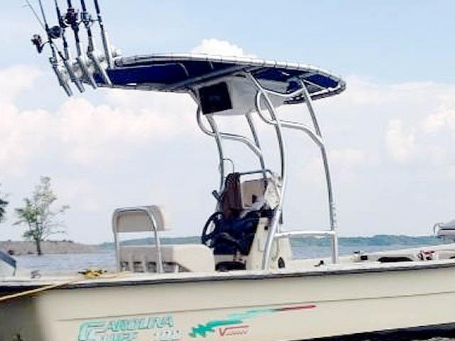 T-Top for 2001 Carolina Skiff 198 Semi-V  center console boats 99051-2