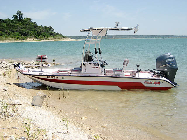 1996 Red-Fin 200TE boat t-tops
