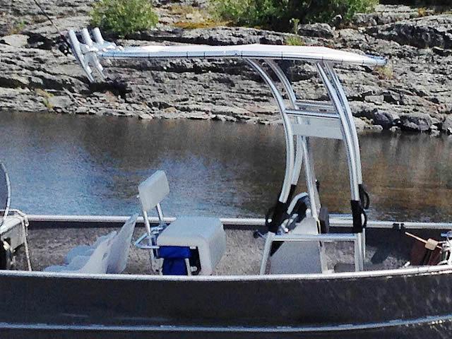 T-Top for 1984 Stanley 18 ft center console boats 99693-10