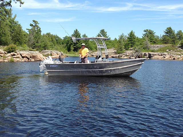 T-Top for 1984 Stanley 18 ft center console boats 99693-7