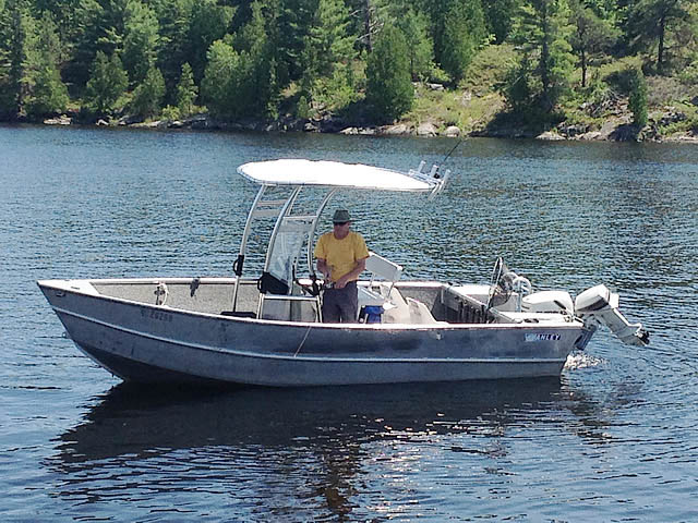 T-Top for 1984 Stanley 18 ft center console boats 99693-8