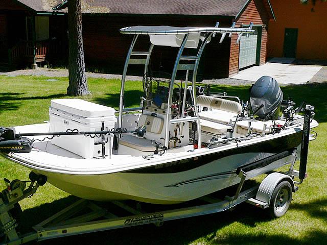 2013 Carolina Skiff DLV 178 boat t-tops