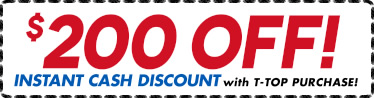 $200 Discount on Boat T-Tops by Stryker