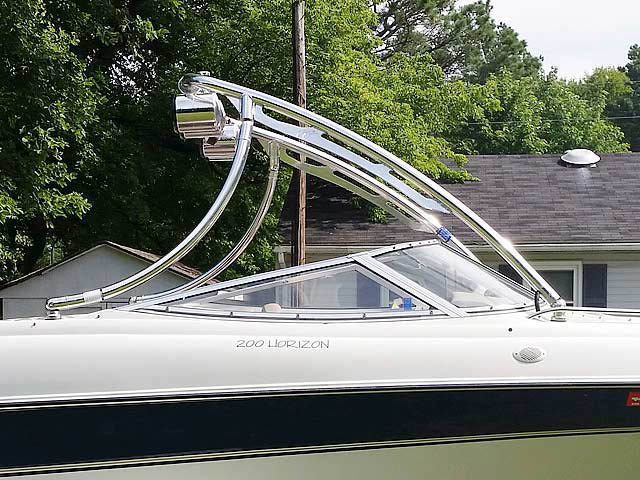 Ascent Tower wakeboard tower installed on 1996 Four Winns 200 Horizon boat