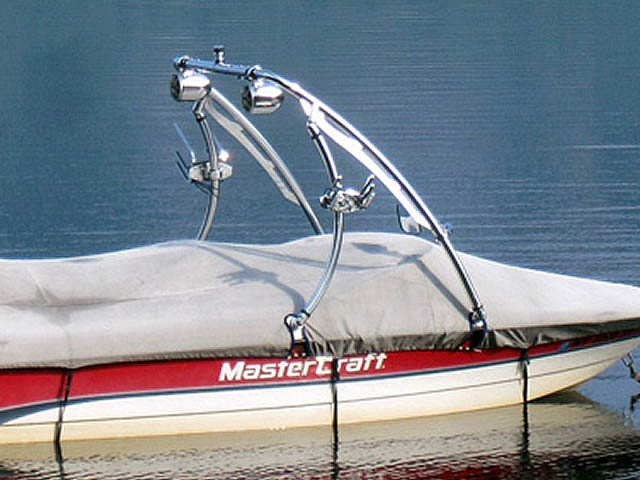 Ascent Tower wakeboard tower installed on 1996 Mastercraft Pro Star boat