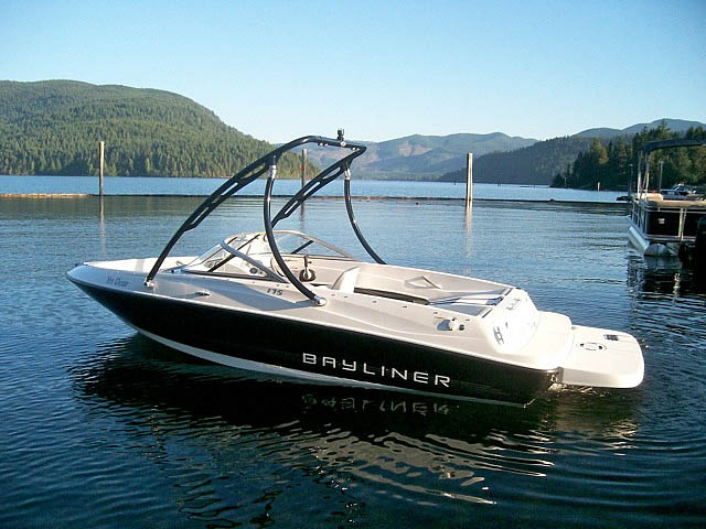 Wakeboard Tower for 2012 175  Bayliner installed on 08/21/2015