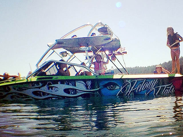 Airborne Tower wakeboard tower installed on 1989 Ski Brendella boat