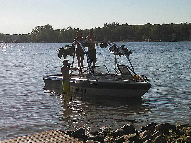 Wakeboard Tower for 1992 Malibu Euro installed on 09/30/2014