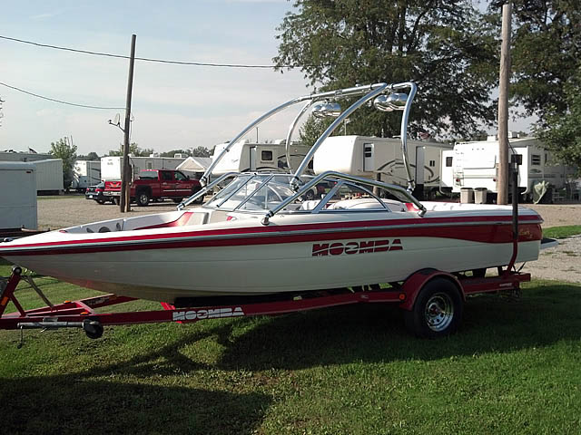Wakeboard Tower for 2002 Moomba Outback LS installed on 09/30/2015