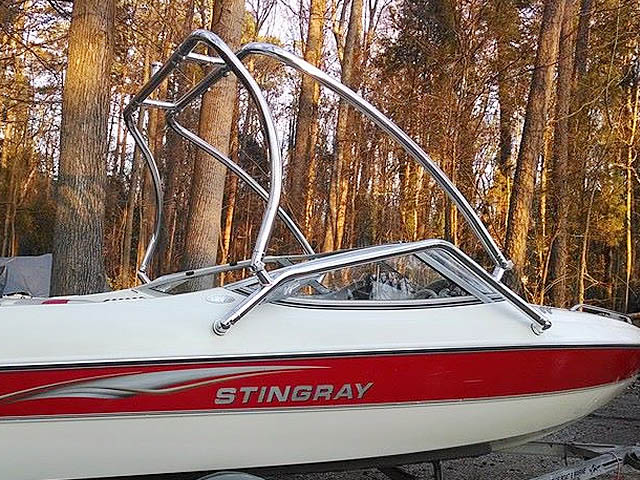 Airborne Tower wakeboard tower installed on 2003 Stingray 180LS boat