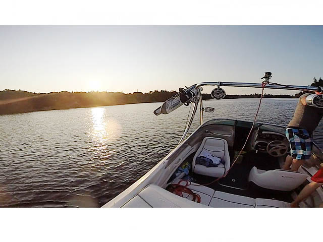 Ascent Tower wakeboard tower installed on 2000 Bayliner 1850 Capri LX boat