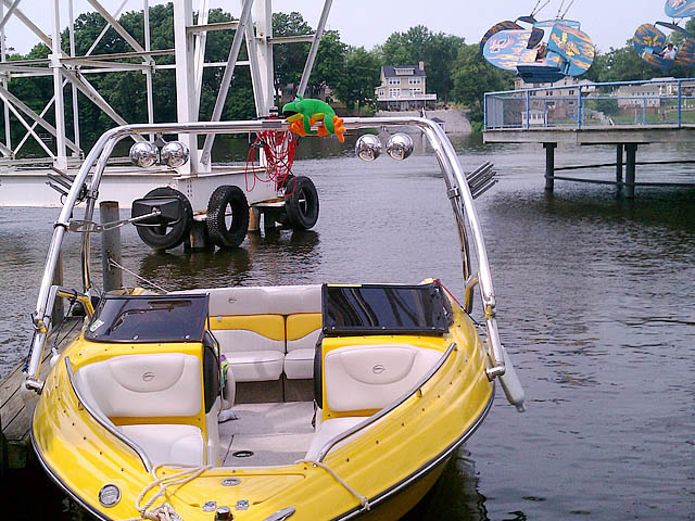 Airborne Tower wakeboard tower installed on 2005 Crownline LPX boat