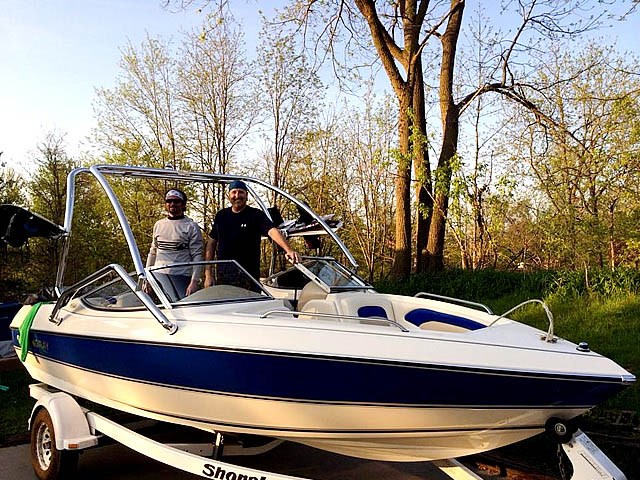 Wakeboard Tower for 1996 Stingray 606ZP installed on 10/24/2015