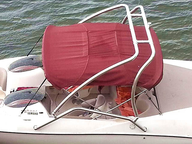 Airborne Tower wakeboard tower installed on 2001 Yamaha ls 2000 boat