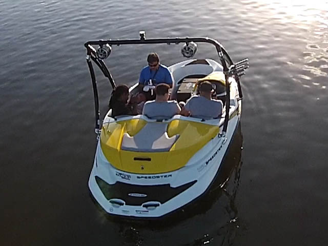 Ascent Tower wakeboard tower installed on 2009 Speedster 150 boat