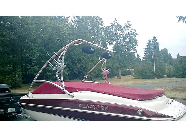 Assault Tower wakeboard tower installed on 2006 Glastron boat