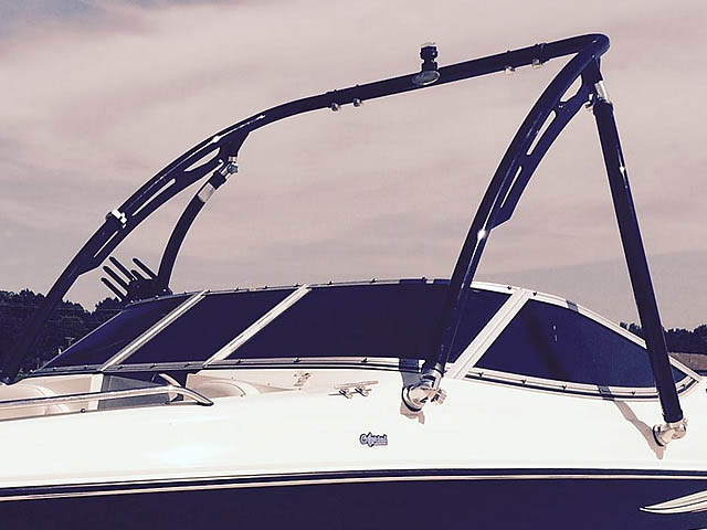 Ascent Tower wakeboard tower installed on 2008 Stingray 185 LX boat