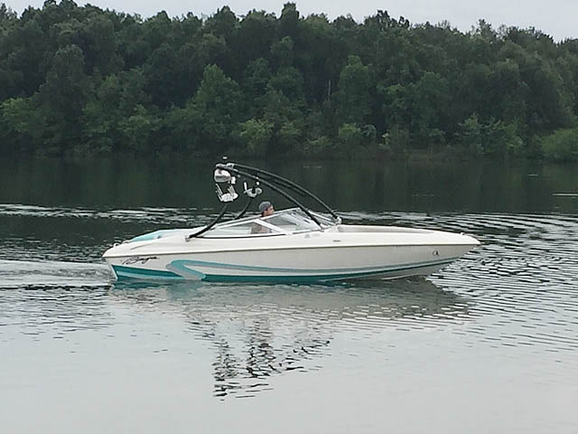 Wakeboard Tower for 1996 Baja Islander 188 installed on 08/16/2014