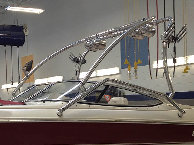 Airborne Tower wakeboard tower installed on 2000 Stingray 200LX boat