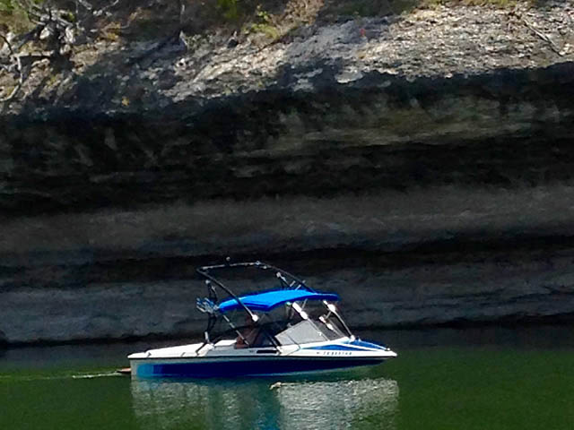 Assault Tower wakeboard tower installed on 1989 Ski Brendella boat