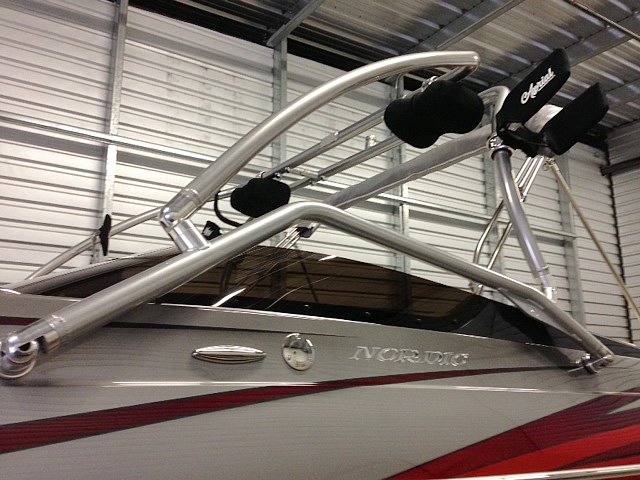 Airborne Tower wakeboard tower installed on Nordic 26 Deck 2014 boat