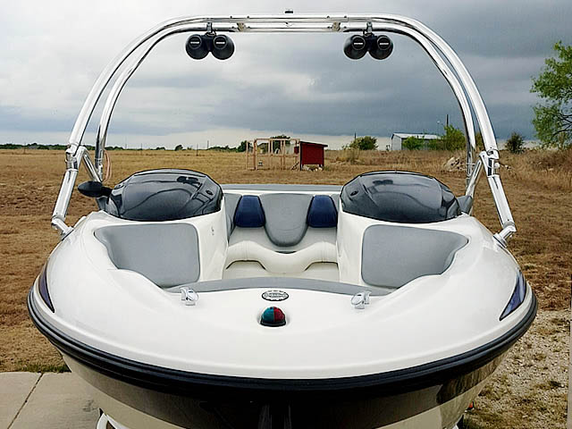Airborne Tower wakeboard tower installed on 2004 Sea Doo Challenger 2000 boat